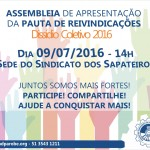 Apresentação da pauta de reivindicações do dissídio coletivo 2016