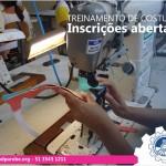 Treinamento de costura: inscrições abertas!