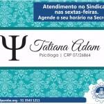 Convênio com a Psicóloga Tatiana Adam