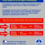 Regras do seguro-desemprego e aposentadoria