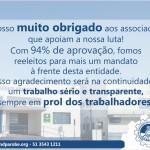 Diretoria do Sindicato é reeleita com 94% de aprovação